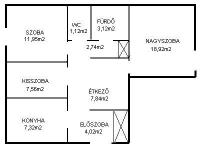 Budapest IV. ker 65m2 1/2 lakásrész tulajdonmegosztás miatt eladó ingatlan hirdetéshez feltöltött kép