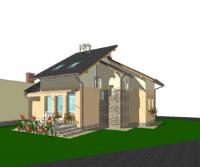 Balatongyörök parthoz közel saroktelek új 80m2 nyaraló/családi ház eladó ingatlan hirdetéshez feltöltött kép