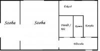Szeged eladó társasházi lakás 49m2 1+1 szoba magasföldszinti ingatlan hirdetéshez feltöltött kép