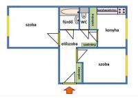 Miskolc eladó lakás 51m2 2 szoba Szent István utca mért távhõs lakás ingatlan hirdetéshez feltöltött kép
