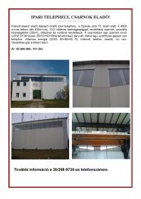 Kiskunhalason eladó teljesen önálló ipari telephely 4809m2 10,5m magas csarnok ingatlan hirdetéshez feltöltött kép