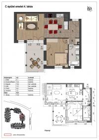Veresegyház eladó 52,1 m2 lakás 2 szoba új építésû ajándék parkolóval ingatlan hirdetéshez feltöltött kép