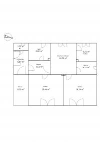 Zalaszentgrót eladó családi ház 120m2 2+1 szoba központban 1100m2 telek ingatlan hirdetéshez feltöltött kép